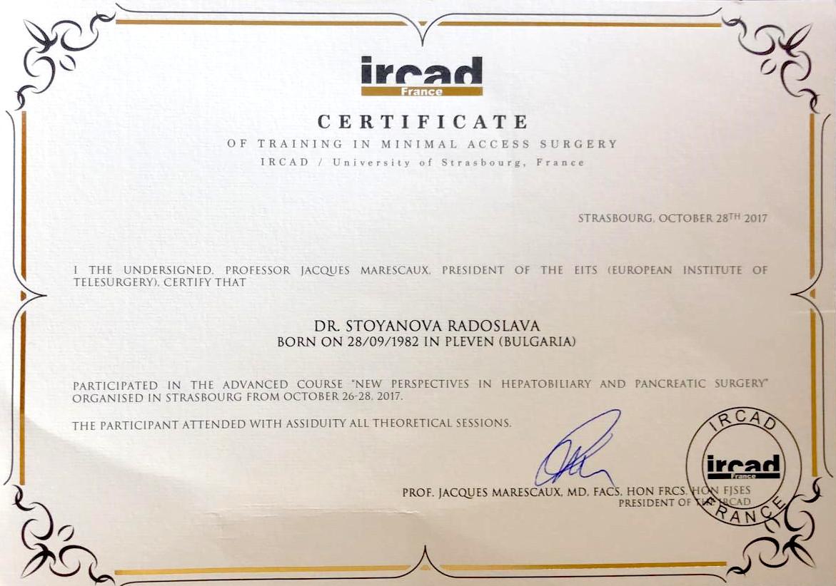 Fortbildungsdiplom für minimalinvasive Chirurgie (2017)