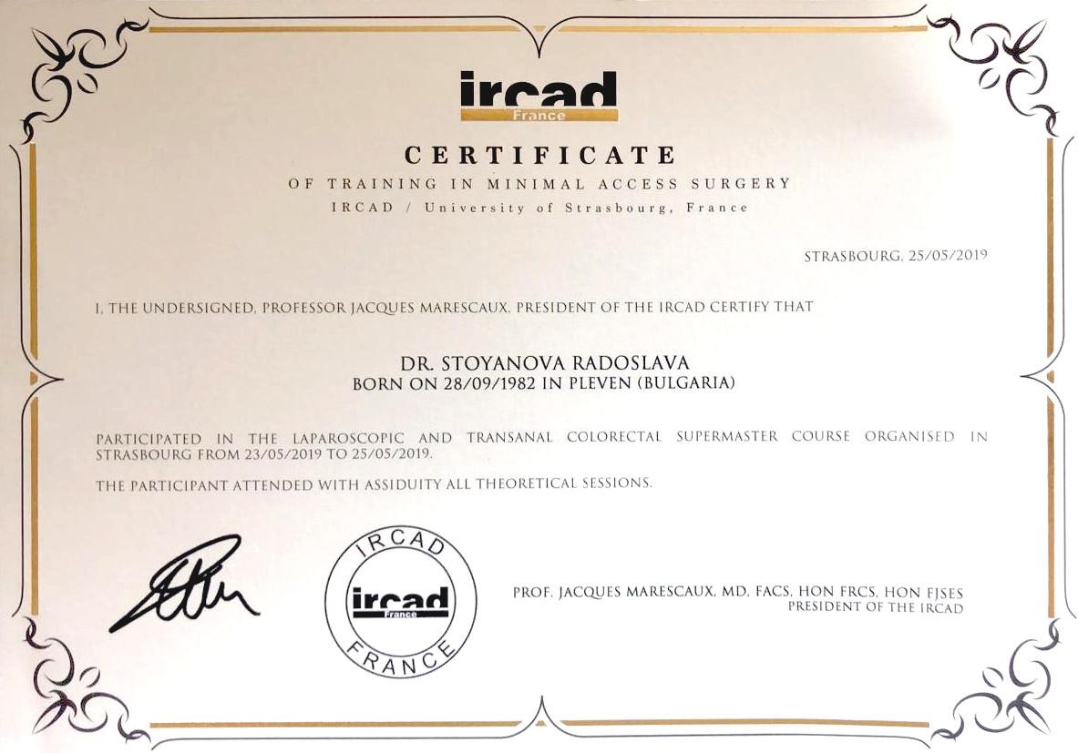 Fortbildungsdiplom für minimalinvasive Chirurgie (2019)